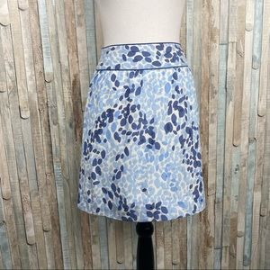 Vineyard Vines 4 Seaglass Silk Cotton Mini Skirt